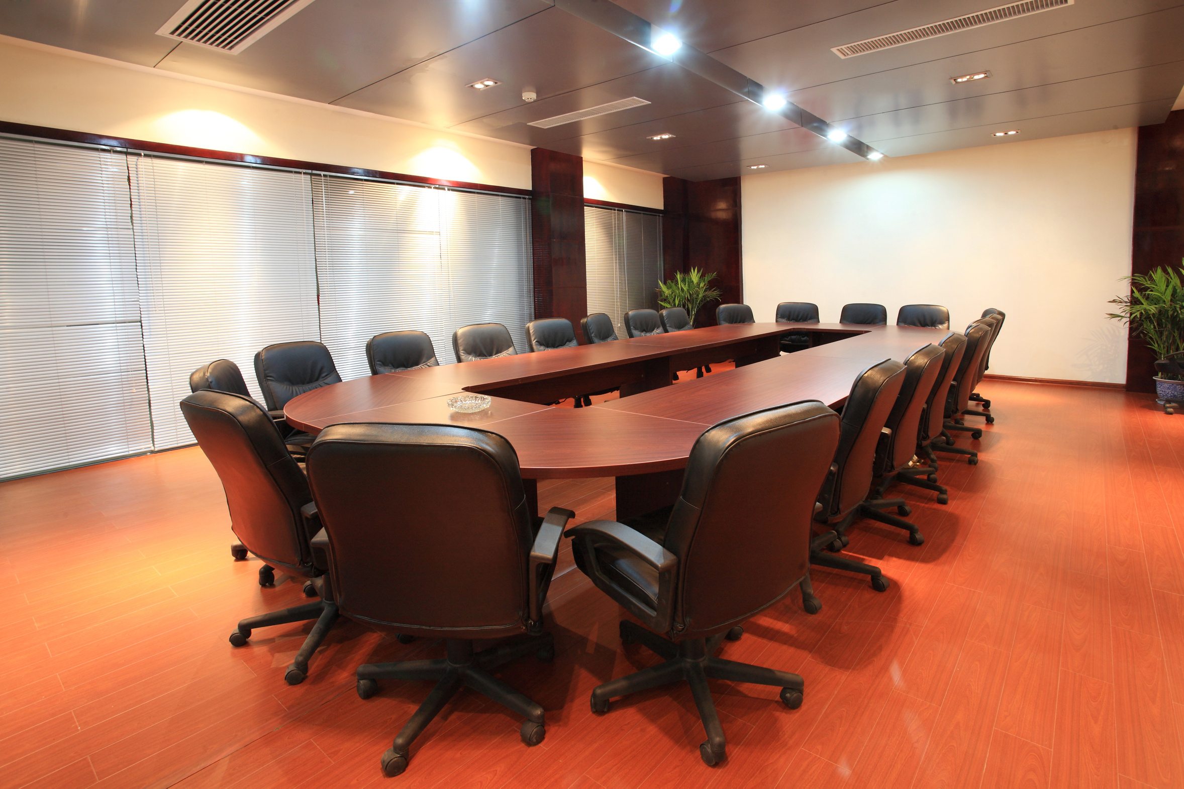 Modern city meeting room